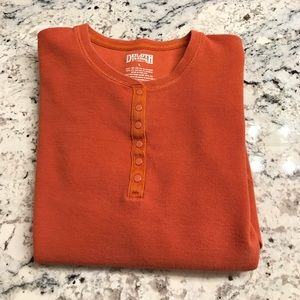 Duluth Trading Thermal Henley Size L EUC